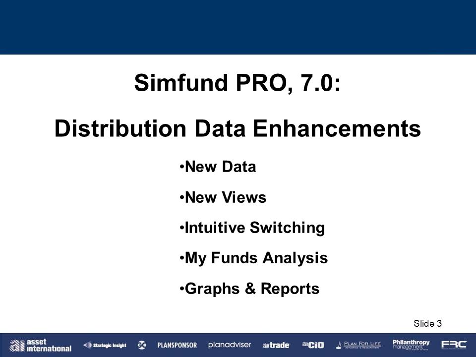Distribution Data Enhancements