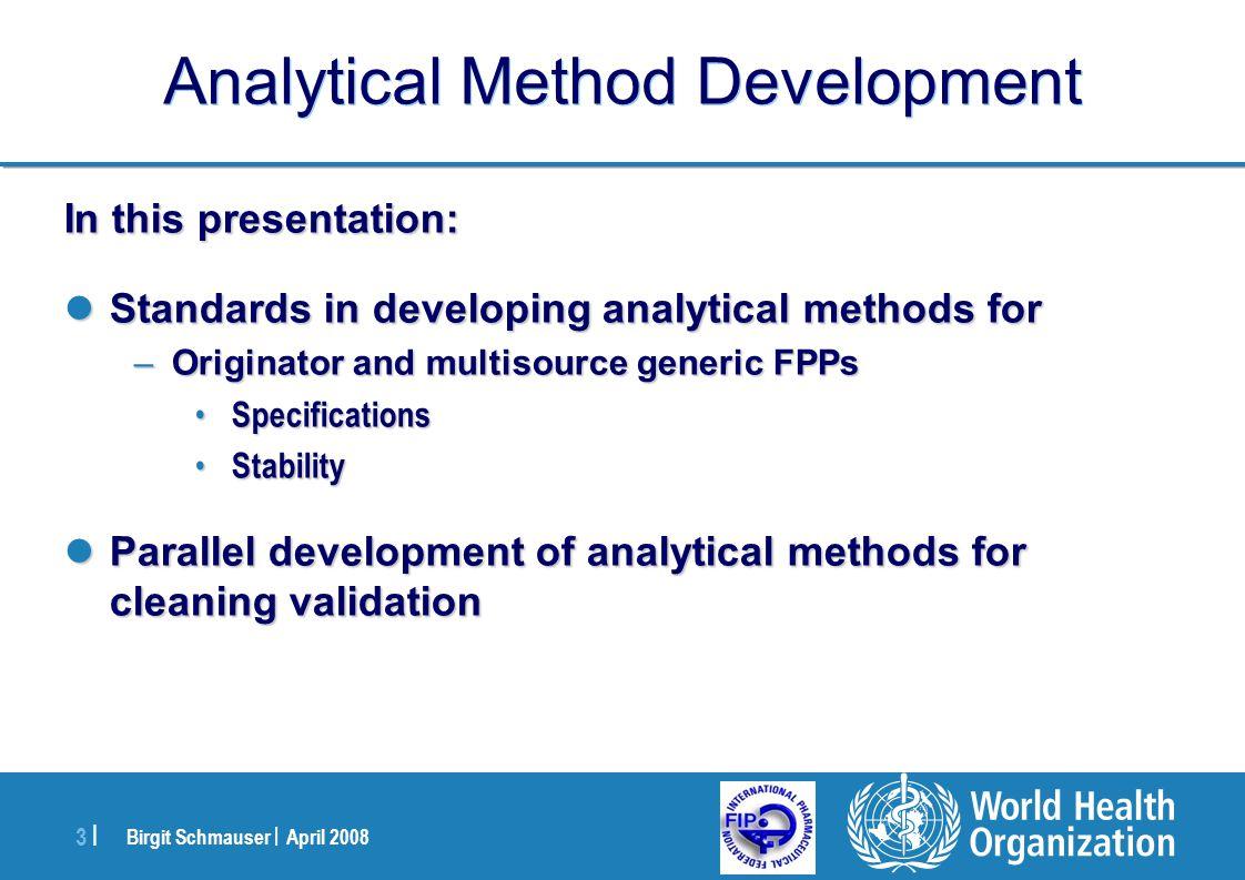 Analytical Method Development
