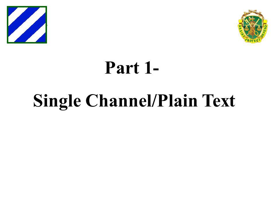 Single Channel/Plain Text