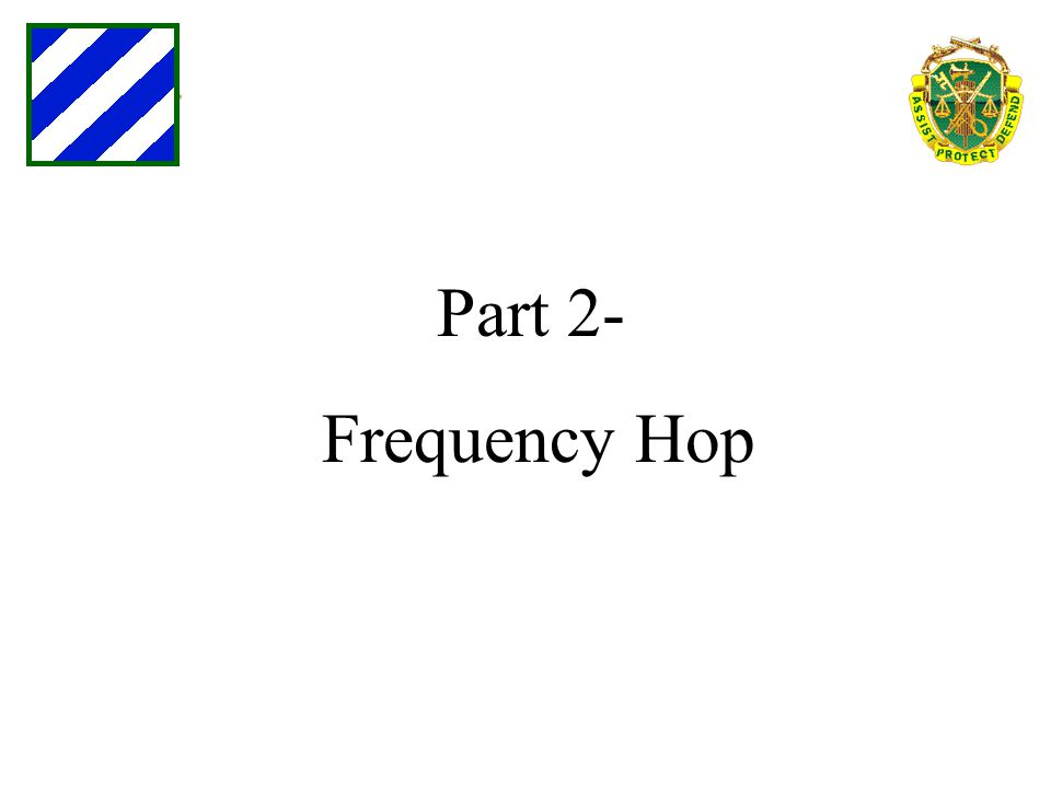 Part 2- Frequency Hop
