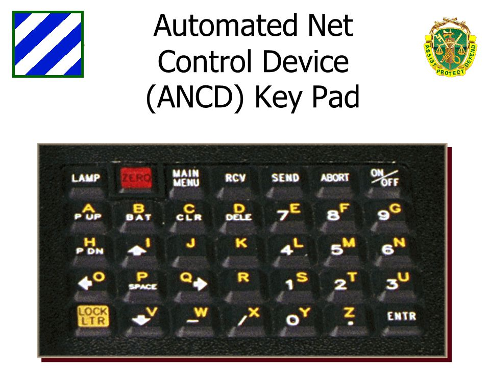 Automated Net Control Device (ANCD) Key Pad