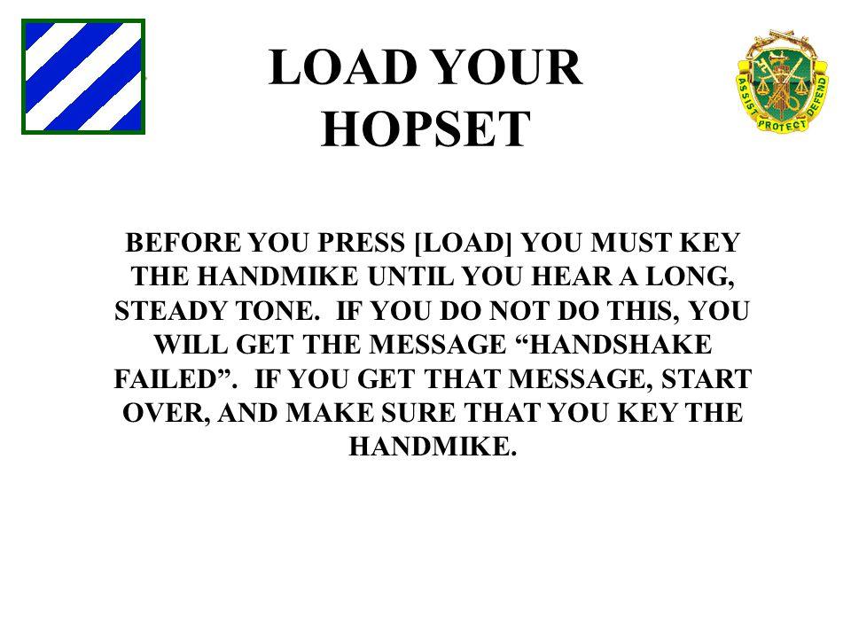 LOAD YOUR HOPSET