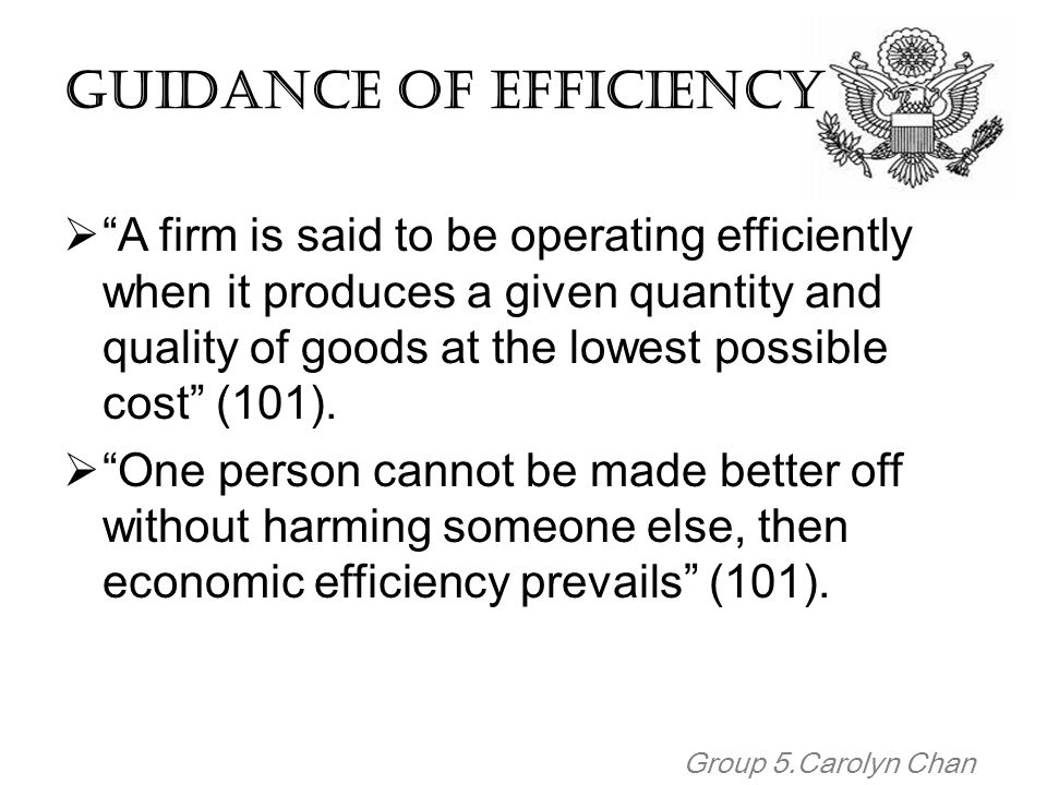 Guidance of Efficiency