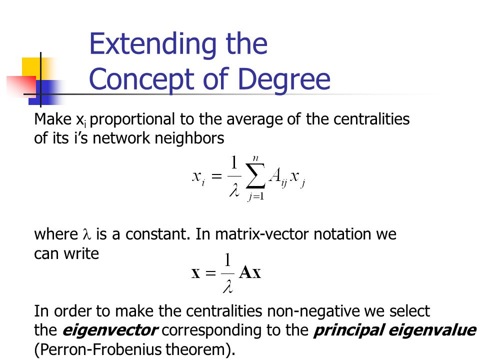 Extending the Concept of Degree