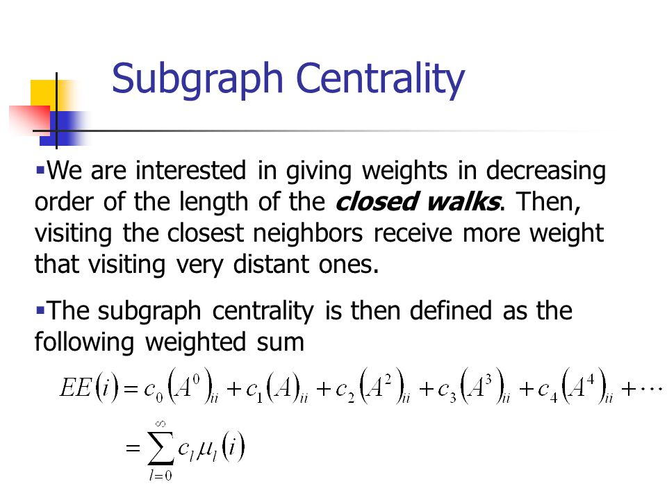 Subgraph Centrality