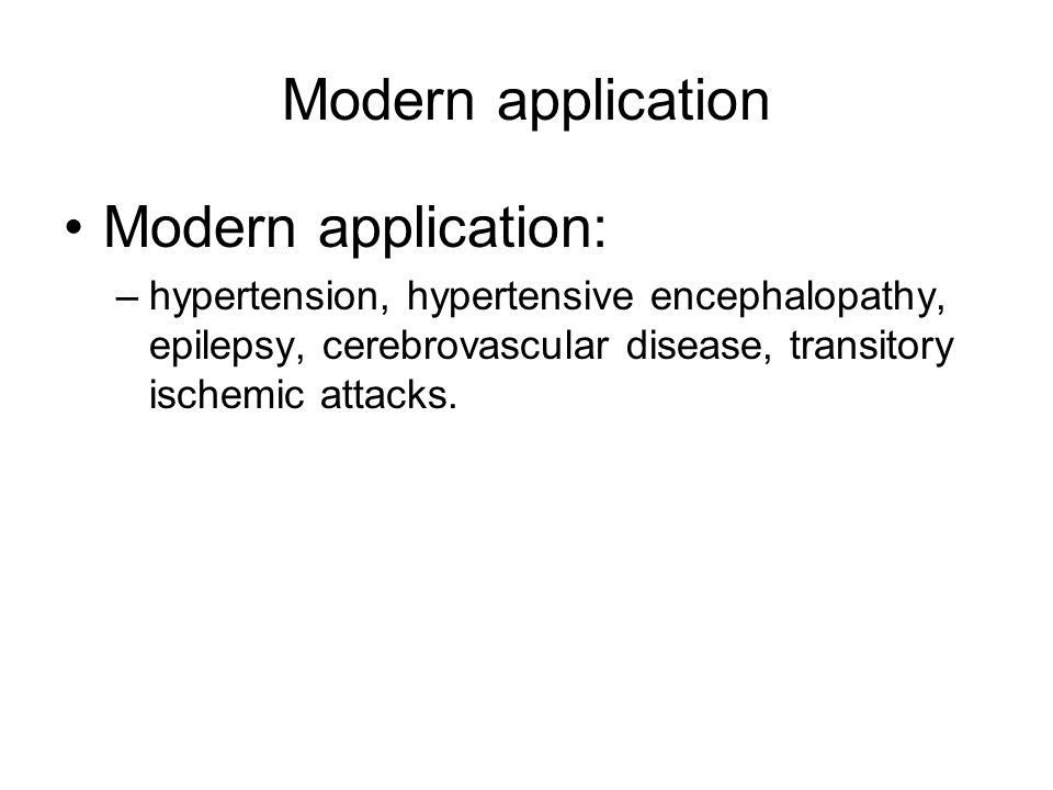 Modern application Modern application:
