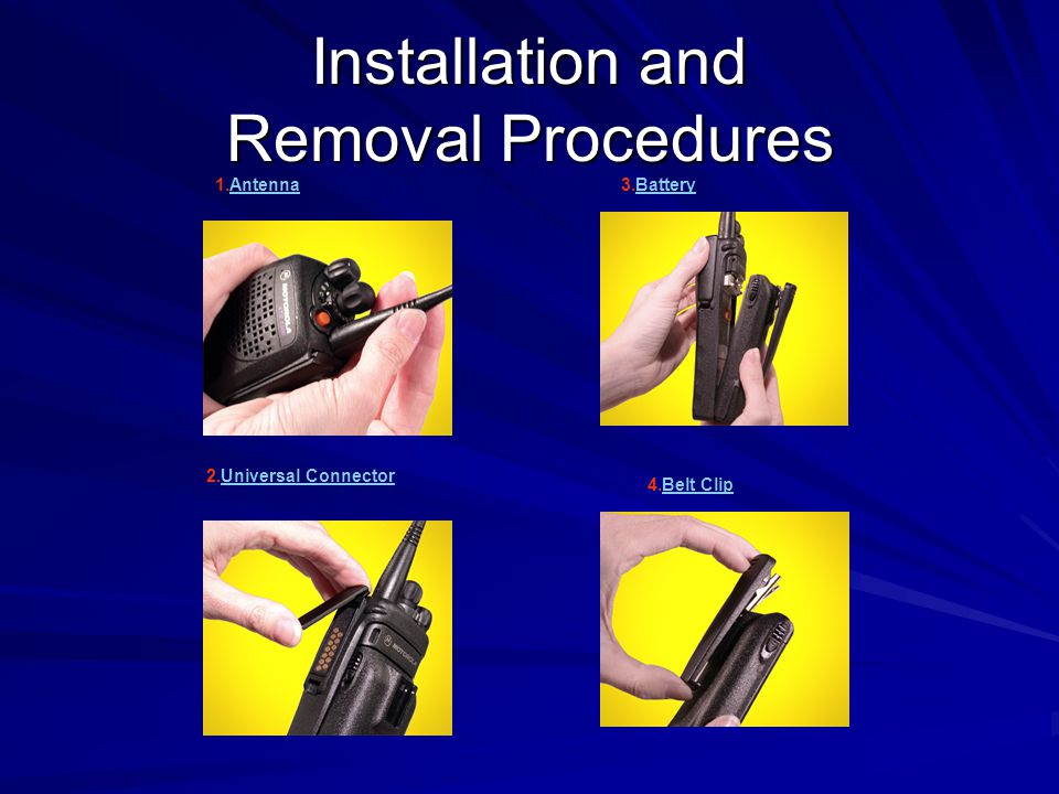 Installation and Removal Procedures