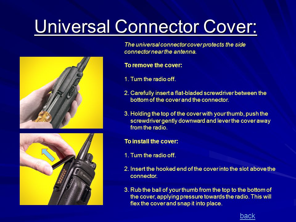 Universal Connector Cover: