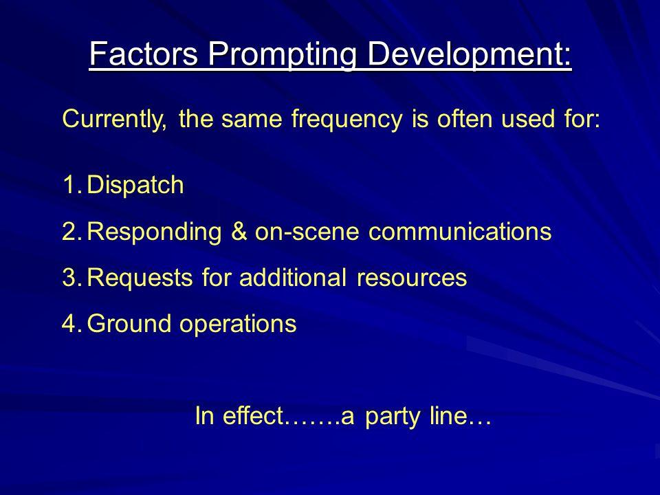 Factors Prompting Development:
