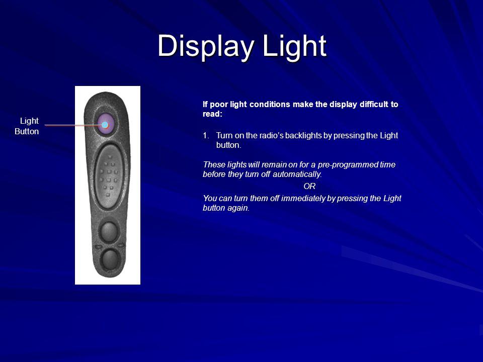 Display Light Light Button