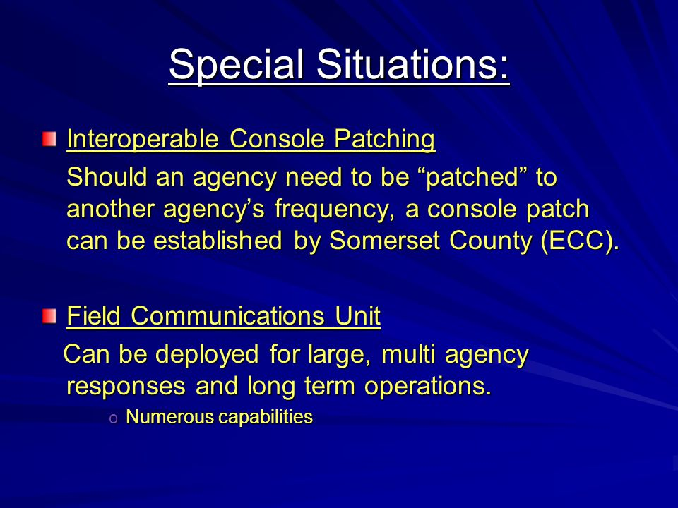 Special Situations: Interoperable Console Patching
