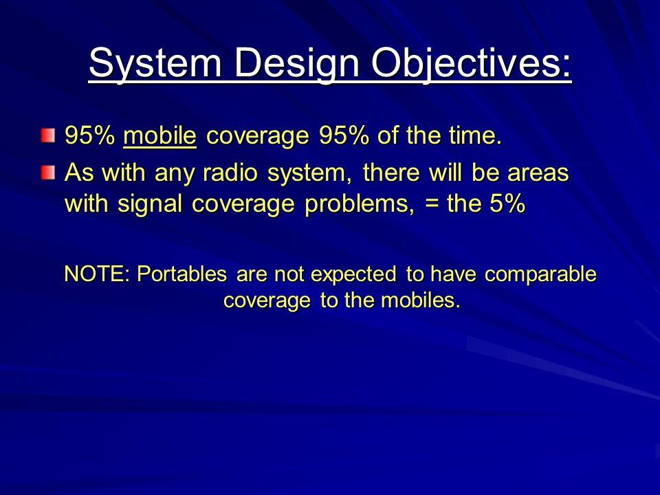 System Design Objectives:
