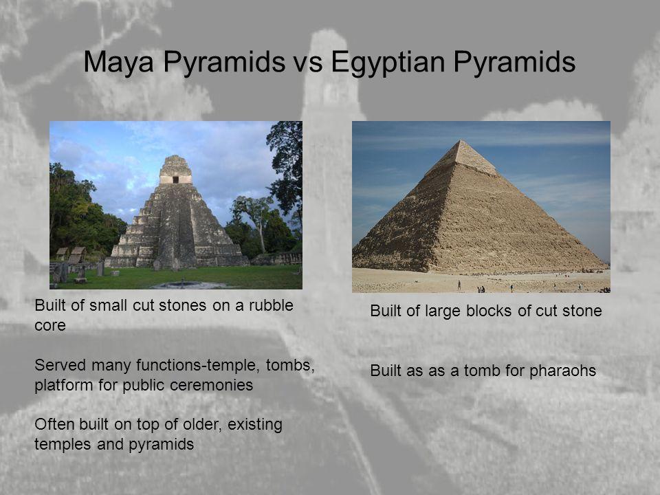 Maya Pyramids vs Egyptian Pyramids