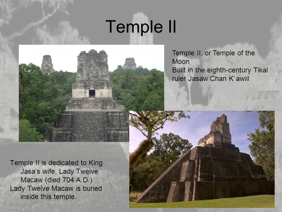 Temple II Temple II, or Temple of the Moon