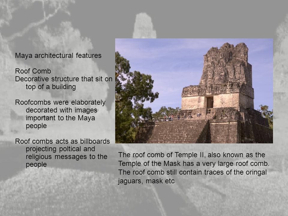 Maya architectural features