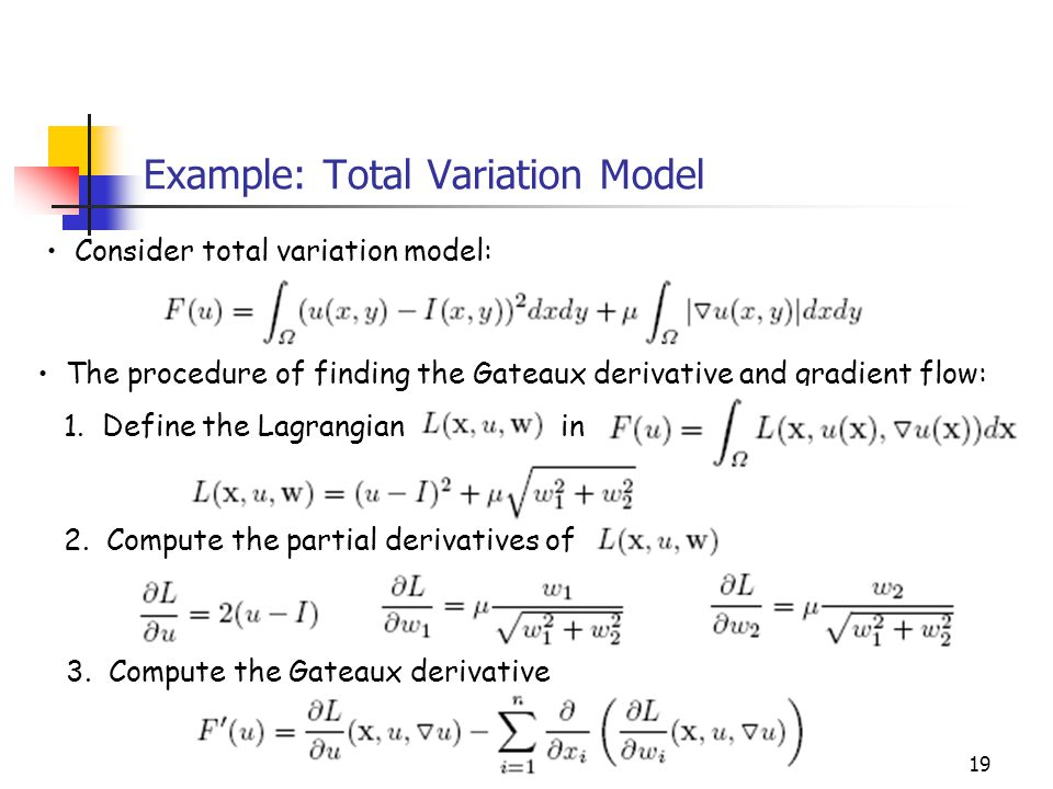 Example: Total Variation Model