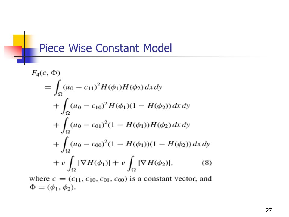 Piece Wise Constant Model