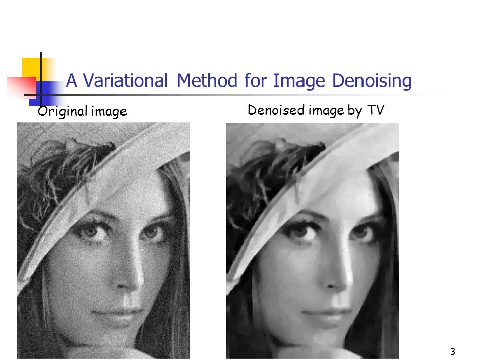 A Variational Method for Image Denoising
