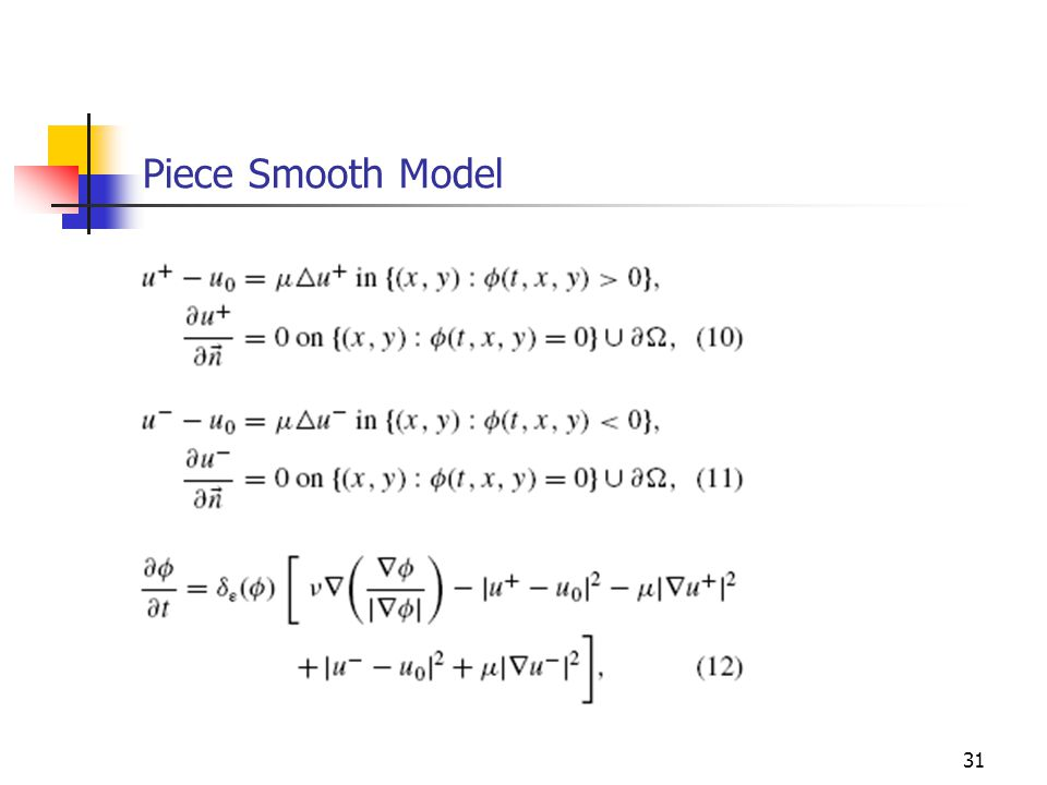 Piece Smooth Model