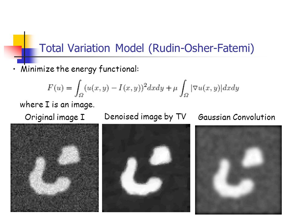 Total Variation Model (Rudin-Osher-Fatemi)