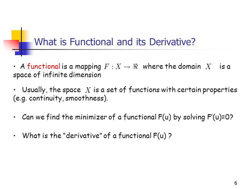 What is Functional and its Derivative