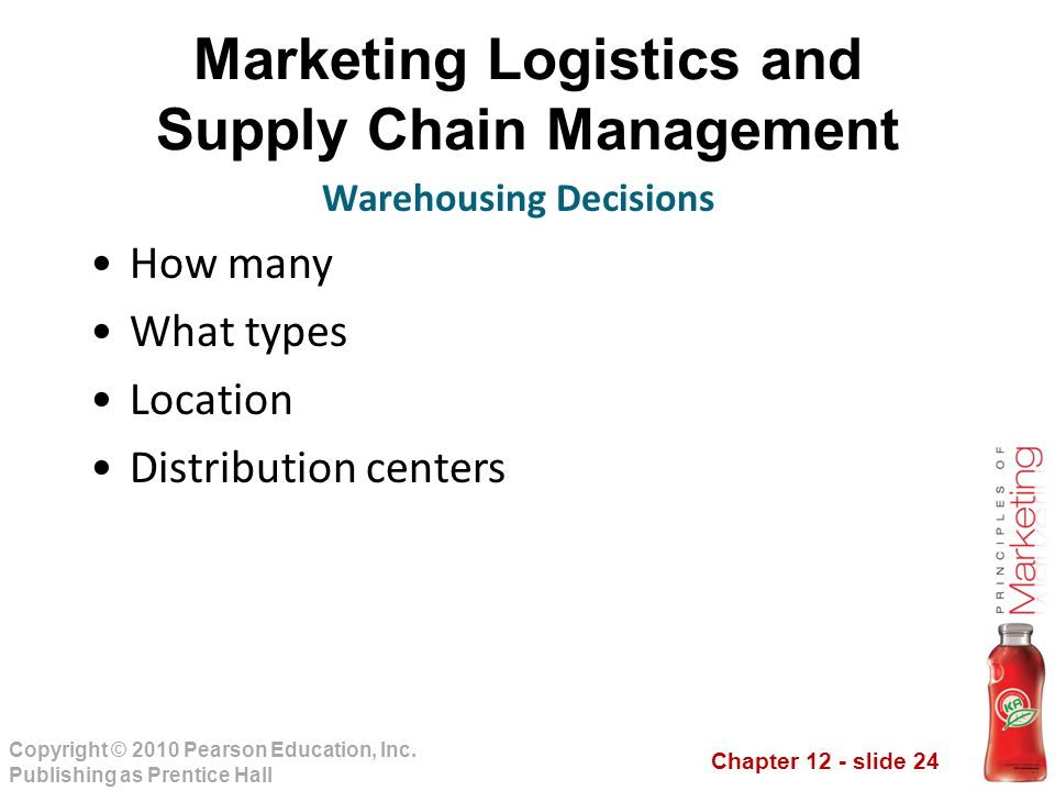 Marketing Logistics and Supply Chain Management Warehousing Decisions