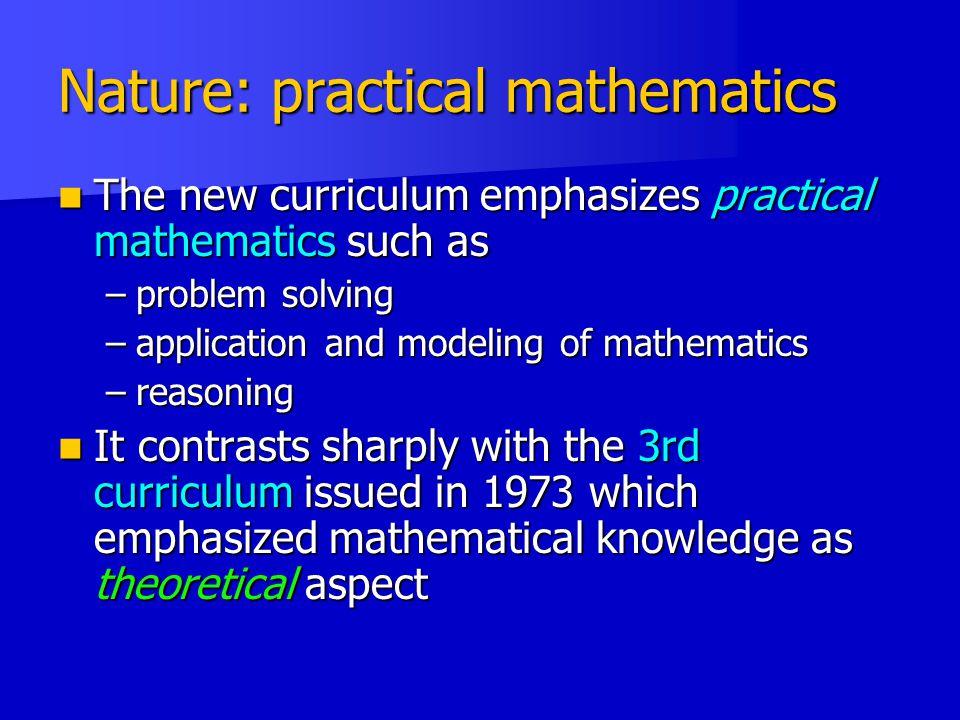Nature: practical mathematics