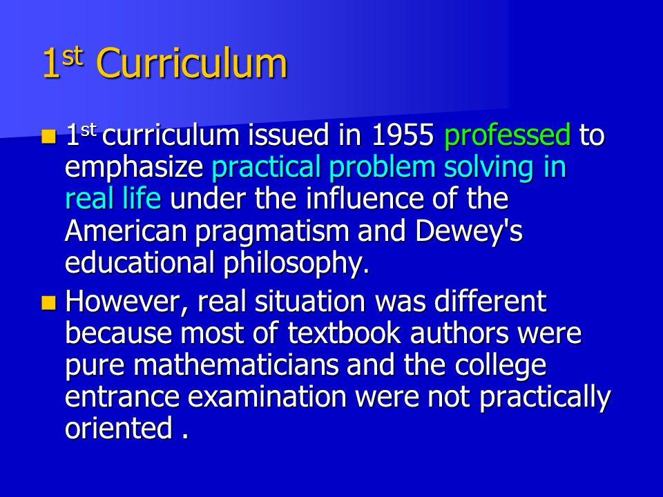 1st Curriculum