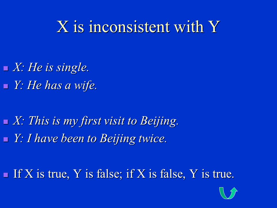 X is inconsistent with Y