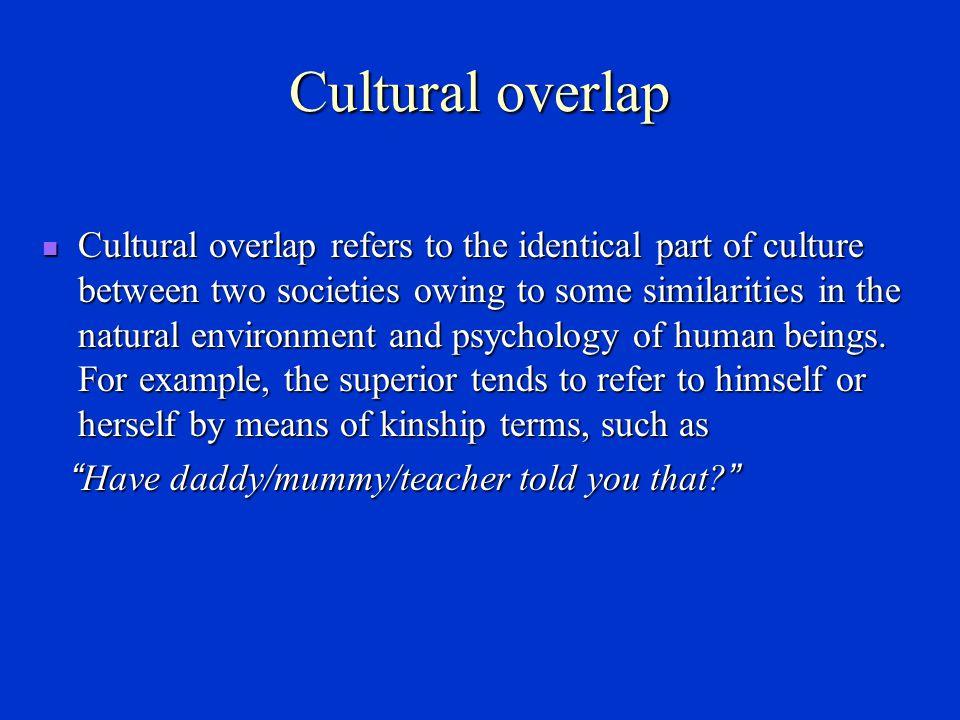 Cultural overlap