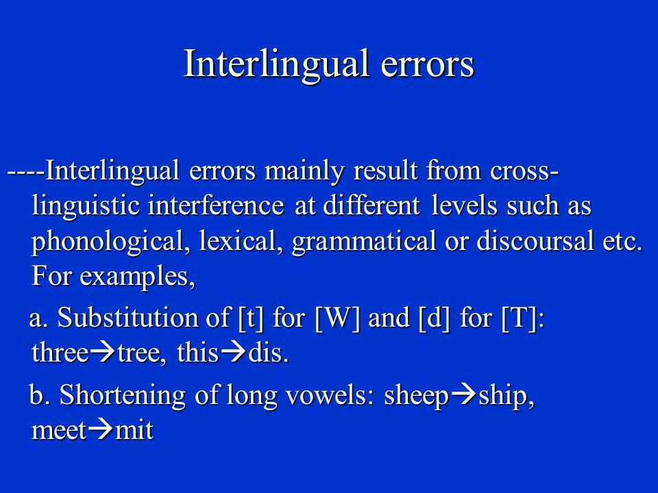 Interlingual errors