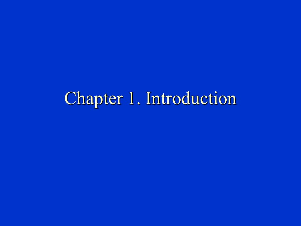 Chapter 1. Introduction