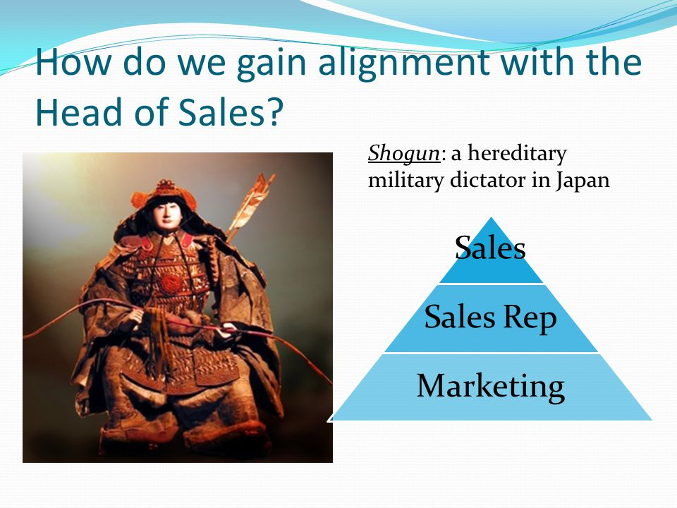 How do we gain alignment with the Head of Sales