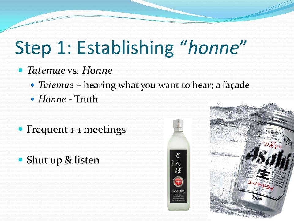 Step 1: Establishing honne