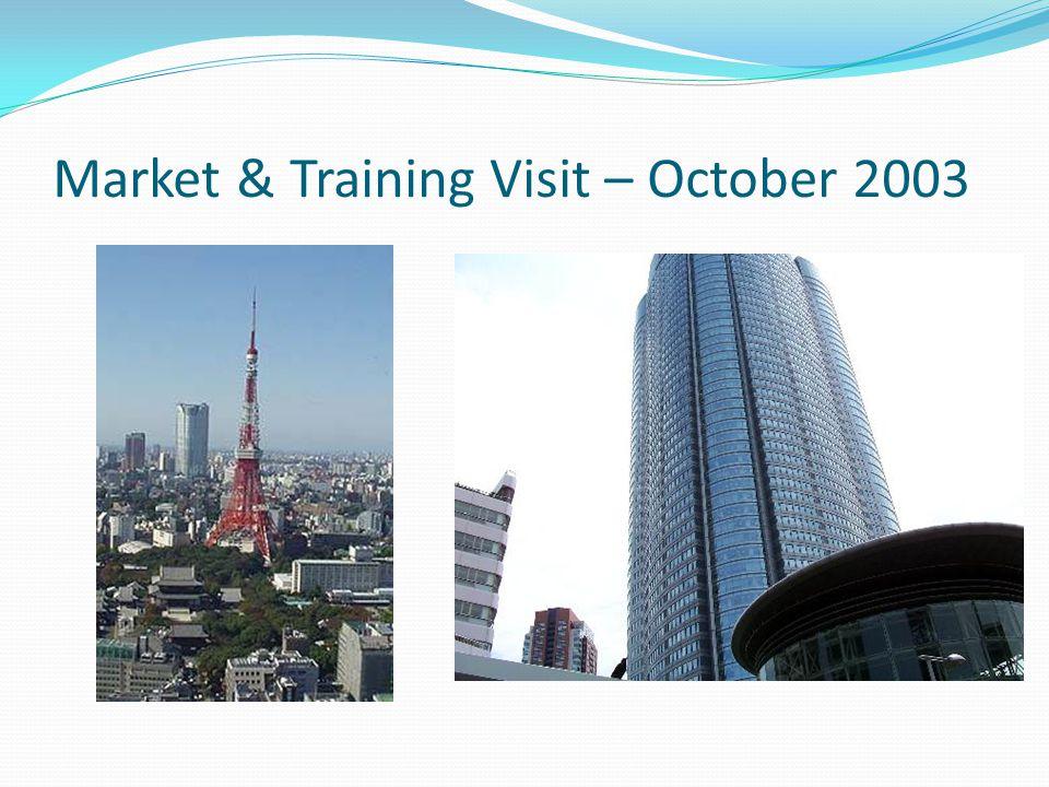 Market & Training Visit – October 2003