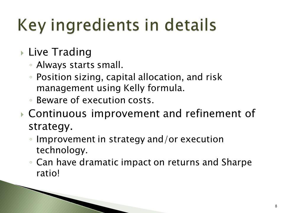 Key ingredients in details