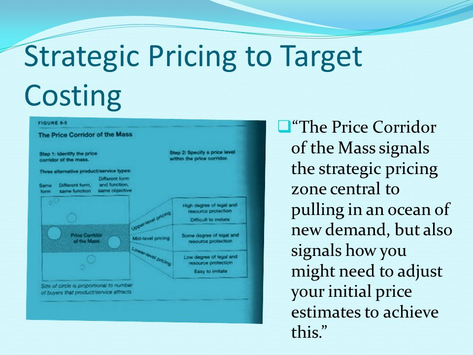 Strategic Pricing to Target Costing
