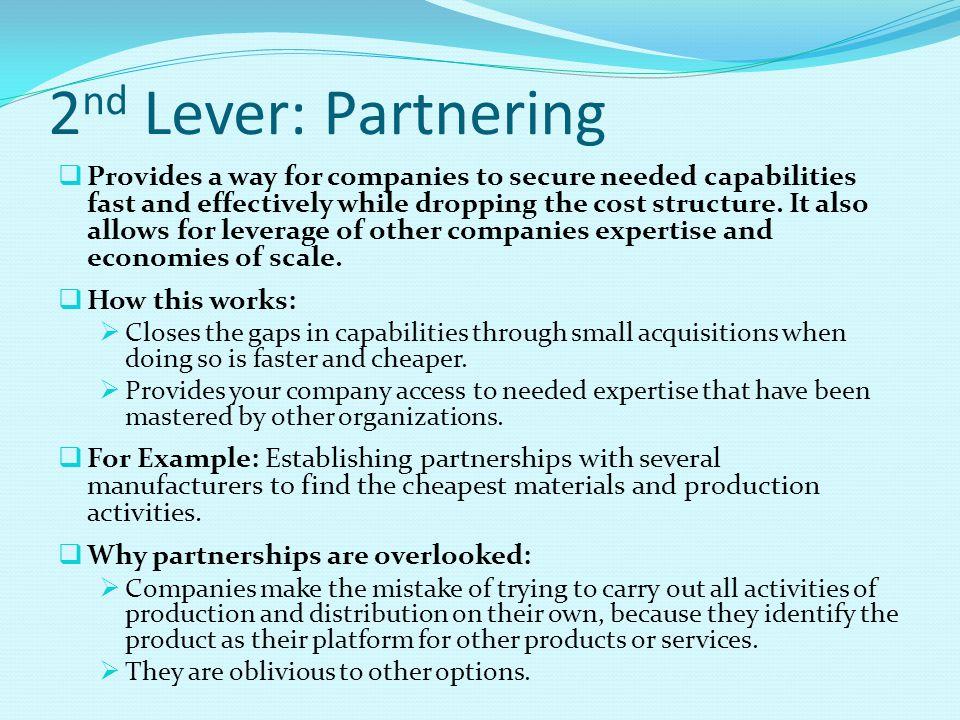2nd Lever: Partnering