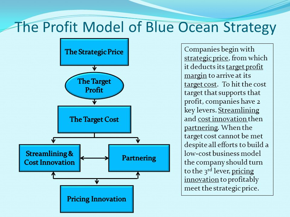 The Profit Model of Blue Ocean Strategy