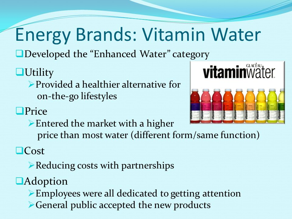 Energy Brands: Vitamin Water