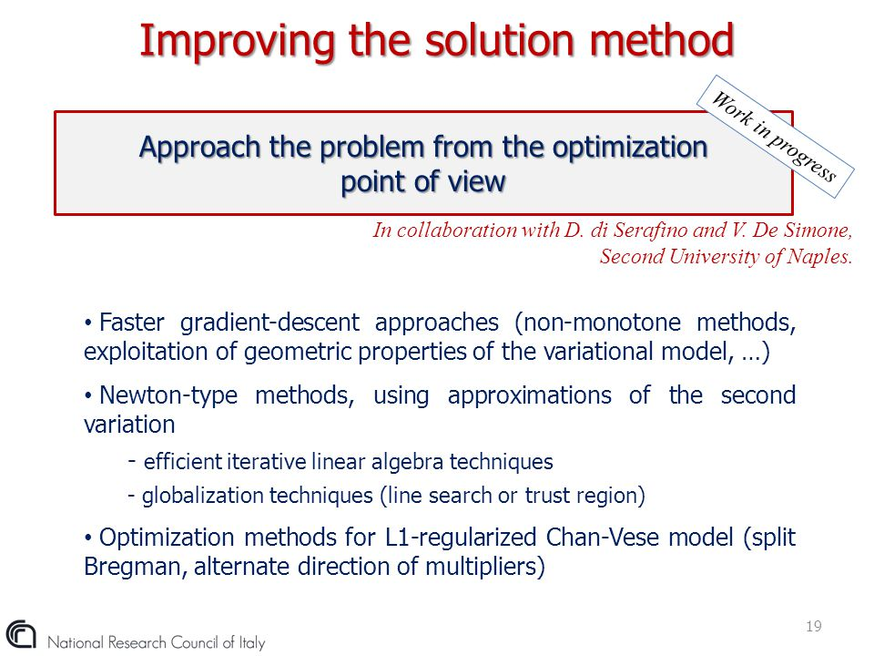 Improving the solution method