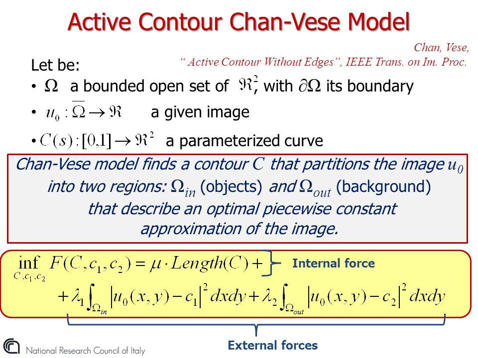 Active Contour Chan-Vese Model