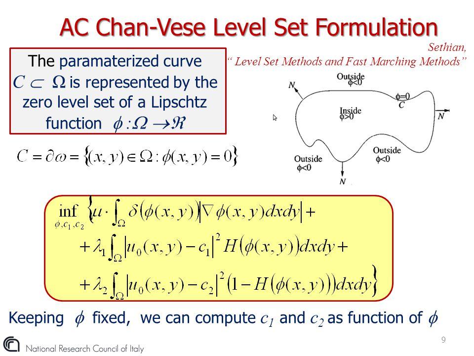 AC Chan-Vese Level Set Formulation