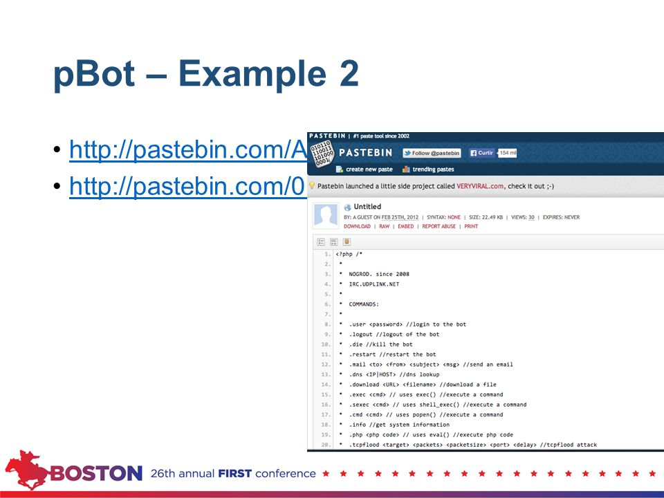 pBot – Example 2 http://pastebin.com/ABEYYCYW