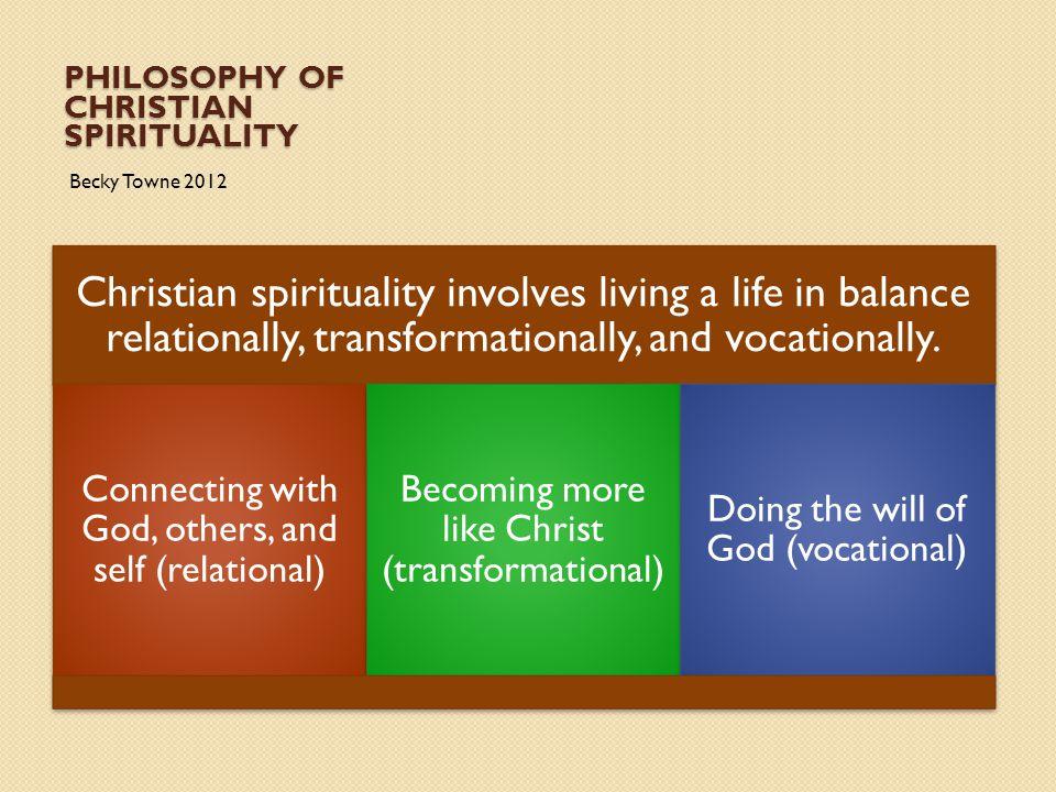 Philosophy of Christian Spirituality
