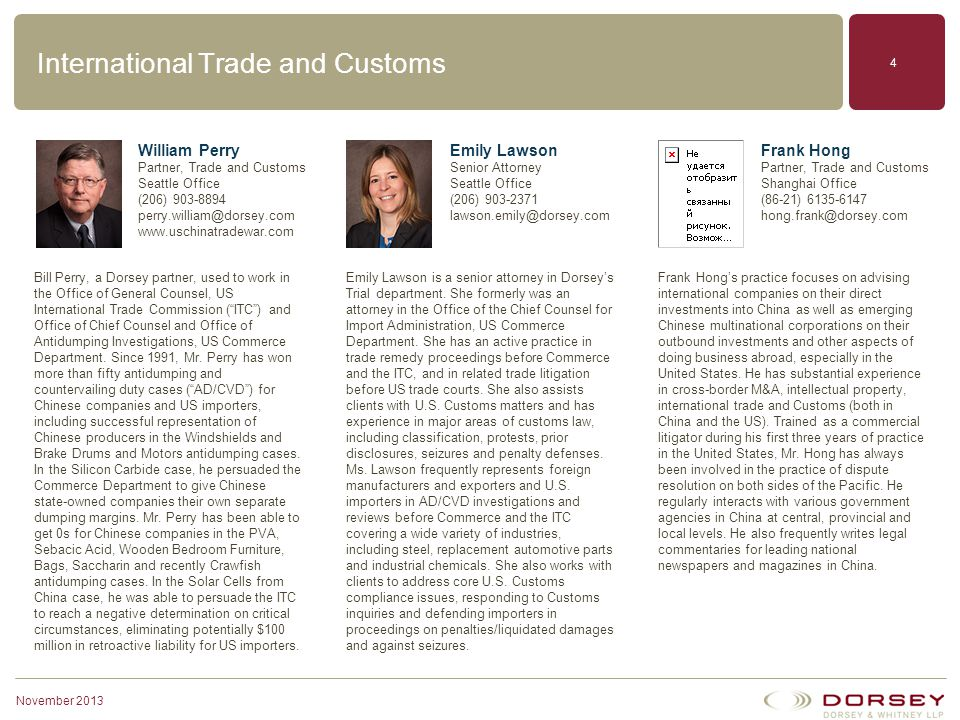 International Trade and Customs