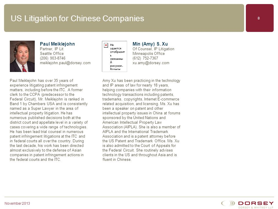 US Litigation for Chinese Companies