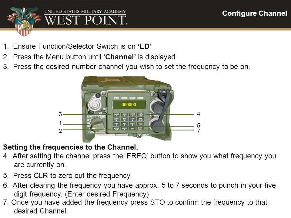 1. Ensure Function/Selector Switch is on 'LD'