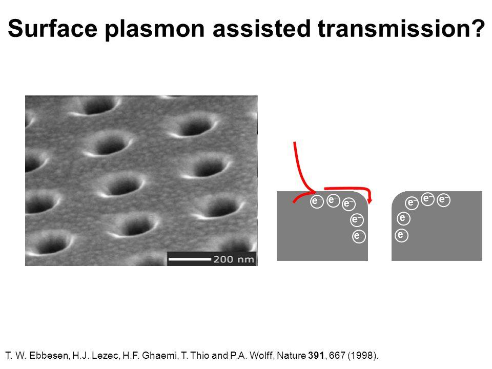 Surface plasmon assisted transmission