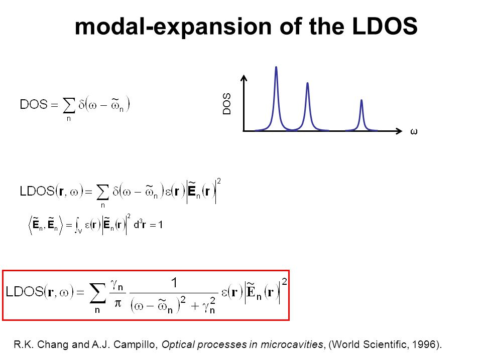 modal-expansion of the LDOS